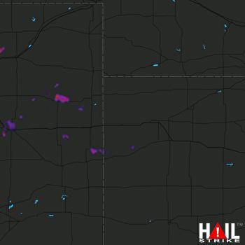 Hail Map Weldona, CO 05-30-2018