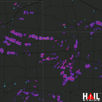 Hail Map Ulysses, KS 06-19-2018