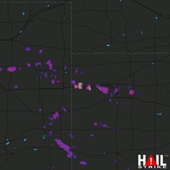 Hail Map Holly, CO 06-22-2018