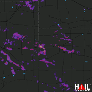 Hail Map Garden City, KS 06-24-2018