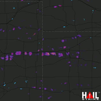 Hail Map North Platte, NE 06-24-2018