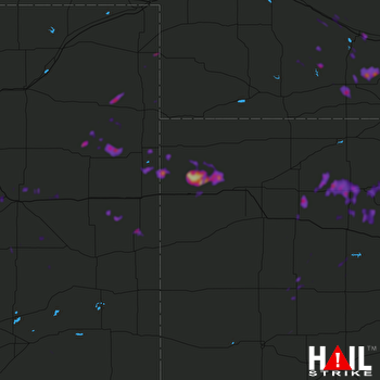 Hail Map Hoxie, KS 06-30-2018