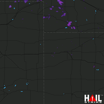 Hail Map Grant, NE 07-17-2018
