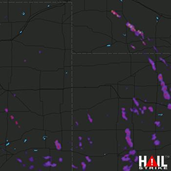 Hail Map Norton, KS 07-25-2018
