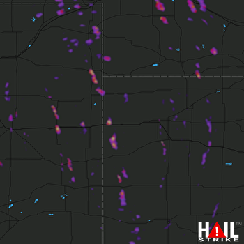 Hail Map Gothenburg, NE 07-26-2018