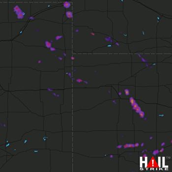 Hail Map Holcomb, KS 07-29-2018