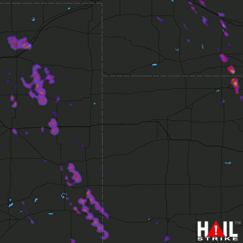 Hail Map Limon, CO 07-30-2018