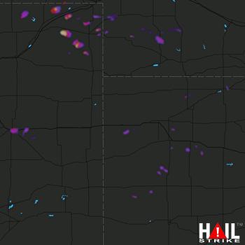 Hail Map Limon, CO 08-05-2018