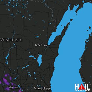 Hail Map Stoughton, WI 07-04-2019