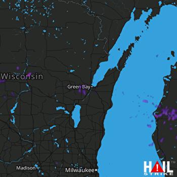 Hail Map Big Rapids, MI 07-20-2019