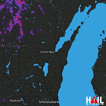 Hail Map Rhinelander, WI 06-11-2021