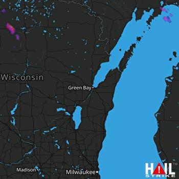 Hail Map GREEN BAY 06-11-2021