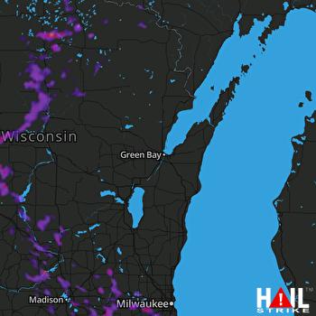 Hail Map Madison, WI 06-11-2021