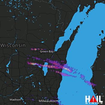 Hail Map Appleton, WI 06-19-2021