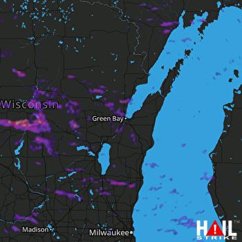 Hail Map Wausau, WI 06-24-2021
