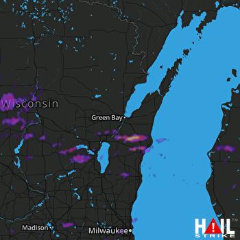 Hail Map Waukesha, WI 08-24-2021