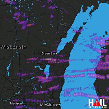 Hail Map Muskegon, MI 09-07-2021