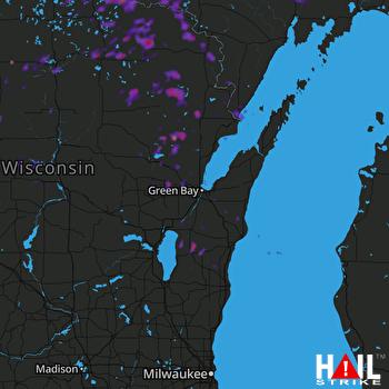 Hail Map Medford, WI 06-03-2017