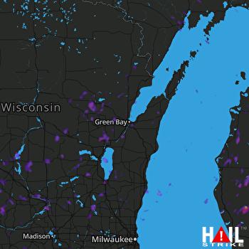 Hail Map Fond Du Lac, WI 06-14-2017