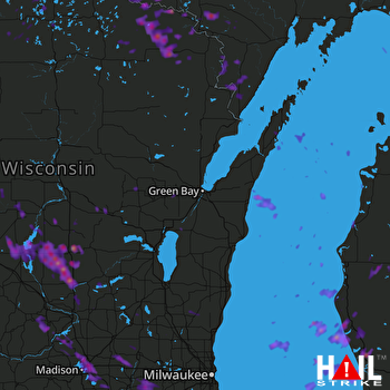 Hail Map Madison, WI 07-07-2017