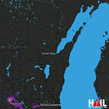 Hail Map Kenosha, WI 07-10-2017