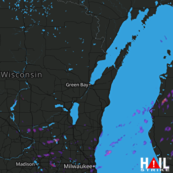 Hail Map Milwaukee, WI 08-03-2017