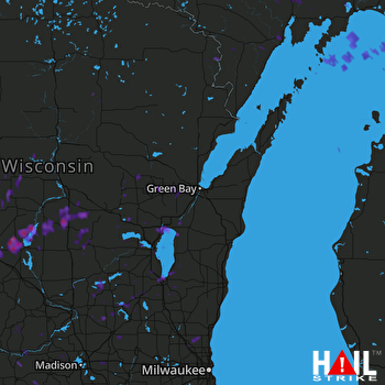 Hail Map Appleton, WI 09-20-2017