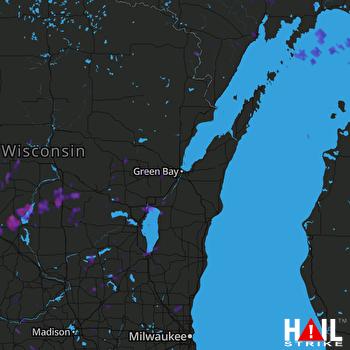 Hail Map Appleton, WI 09-20-2017