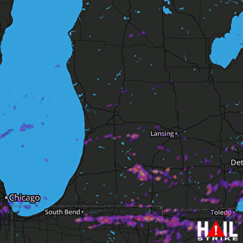 Hail Map Toledo, OH 06-01-2019