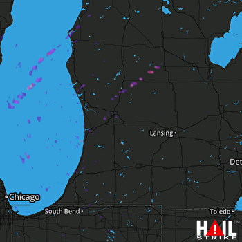 Hail Map Cedar Springs, MI 04-20-2017