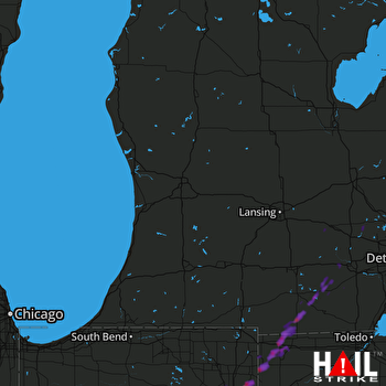 Hail Map Fort Wayne, IN 04-27-2017