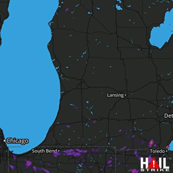 Hail Map Fort Wayne, IN 06-13-2017