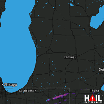 Hail Map Angola, IN 11-05-2017