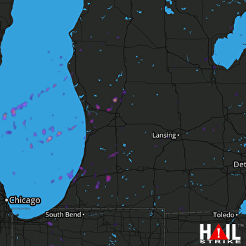 Hail Map Franklin, WI 05-10-2018