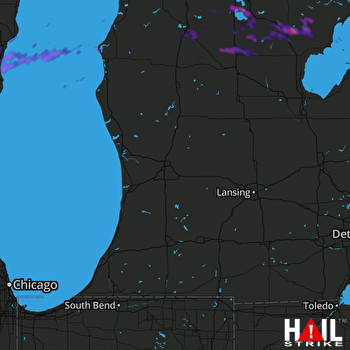 Hail Map Plymouth, WI 07-13-2018