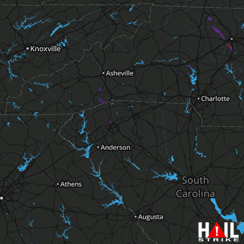Hail Map Clemmons, NC 05-11-2018