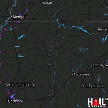 Hail Map Madison, MS 09-19-2019