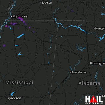 Hail Map Collierville, TN 06-05-2020