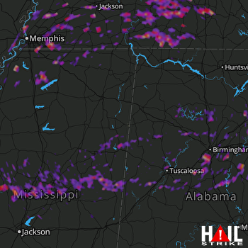 Hail Map Jackson, TN 05-30-2017