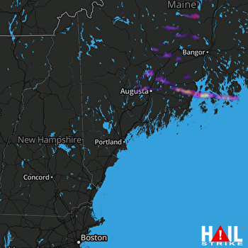 Hail Map Vassalboro, ME 06-19-2021
