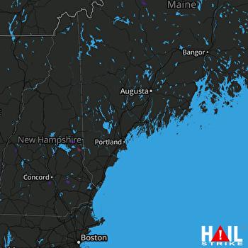 Hail Map PORTLAND 07-15-2018
