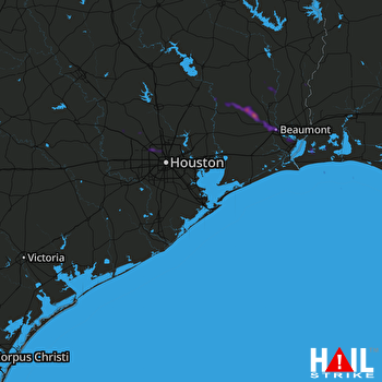 Hail Map Beaumont, TX 11-08-2018
