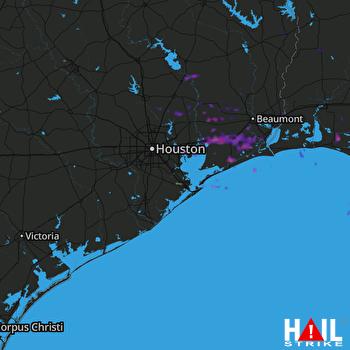 Hail Map Winnie, TX 03-25-2017