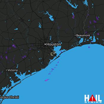 Hail Map HOUSTON 05-21-2017