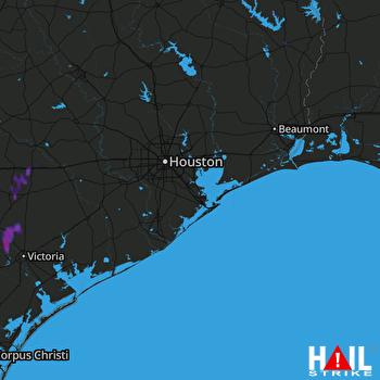 Hail Map HOUSTON 08-05-2017