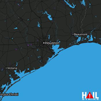 Hail Map Fulshear, TX 07-07-2018