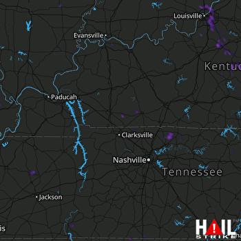 Hail Map Sellersburg, IN 06-29-2020