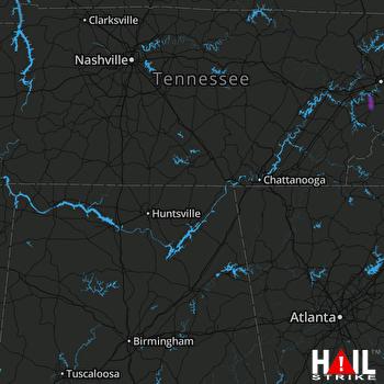 Hail Map Maryville, TN 05-18-2019