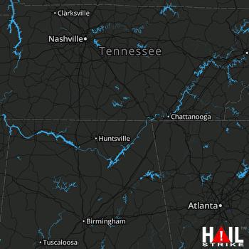 Hail Map Five Points, AL 06-09-2018