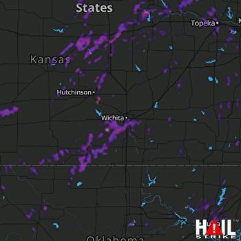Hail Map Topeka, KS 06-23-2019